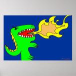 Arte del dinosaurio o del dragón por poco t + José Impresiones