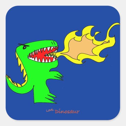 Arte del dinosaurio o del dragón por poco t + José Etiquetas