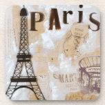 Arte del diseño de París Posavasos