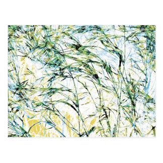 Arte del diseño del brote de la flor de la postales