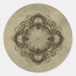 Arte del diseño del Victorian de Steampunk Etiquetas Redondas