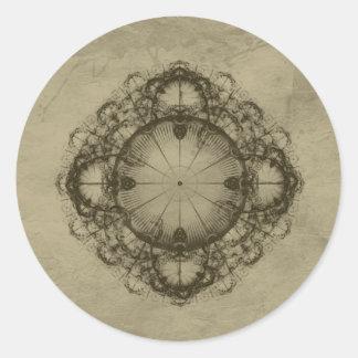 Arte del diseño del Victorian de Steampunk Pegatina Redonda
