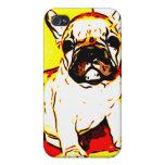 Arte del dogo francés iPhone 4 coberturas