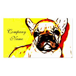 Arte del dogo francés tarjetas de visita