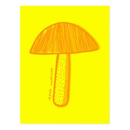 Arte del Doodle de la seta de Aspen Tarjeta Postal