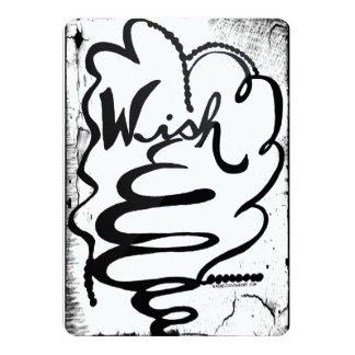 """Arte del Doodle de Raquel - deseo Invitación 5"""" X 7"""""""
