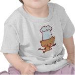 Arte del Doodle del cocinero del oso Camisetas