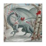 Arte del dragón, arte de la fantasía, señora del b tejas