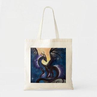 Arte del dragón de la caída de la noche de Carla M Bolsa Tela Barata
