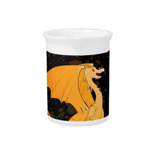 Arte del dragón, de oro divertido jarra de beber
