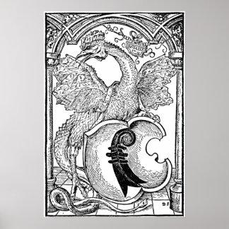Arte del dragón del ◊ - el basilisco impresiones