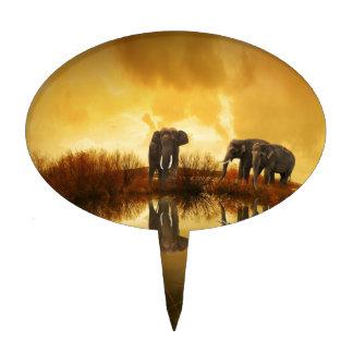 Arte del elefante figuras de tarta