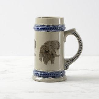 Arte del elefante del animal salvaje jarra de cerveza