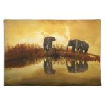 Arte del elefante mantel individual