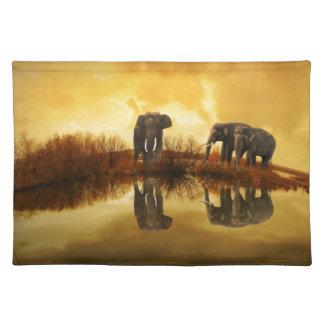 Arte del elefante manteles individuales