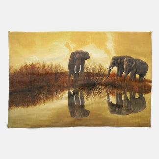 Arte del elefante toallas