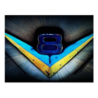 Arte del emblema de V8 Tarjeta Postal