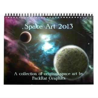 Arte del espacio calendarios de pared