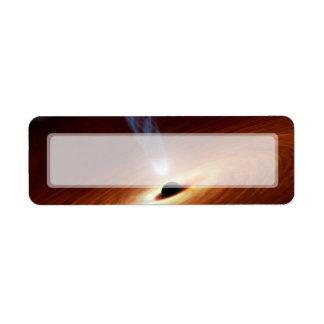 Arte del espacio de la astronomía del calabozo etiqueta de remite