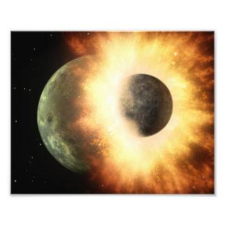 Arte del espacio de la colisión del planeta cojinete