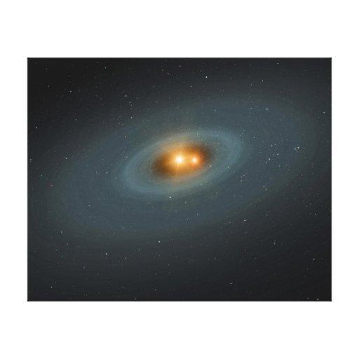 Arte del espacio de la estrella binaria impresiones en lona