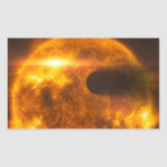 Arte del espacio de la estrella de Exoplanet de la Rectangular Pegatinas