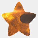 Arte del espacio de la estrella de Exoplanet de la Colcomanias Forma De Estrella