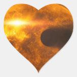 Arte del espacio de la estrella de Exoplanet de la Colcomanias De Corazon