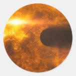 Arte del espacio de la estrella de Exoplanet de la Etiquetas Redondas