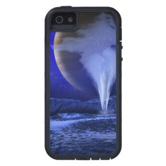 Arte del espacio de la luna de Júpiter del Europa Funda Para iPhone SE/5/5s