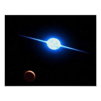 Arte del espacio de la NASA de la estrella VFTS 10 Poster