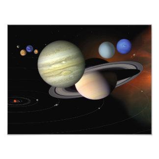 Arte del espacio del ejemplo de la Sistema Solar Fotografía