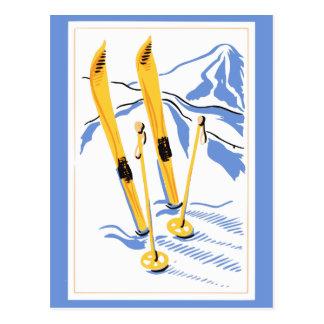 Arte del esquí del vintage tarjetas postales