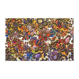 Arte del estampado de flores de Digitaces Lona Estirada Galerias