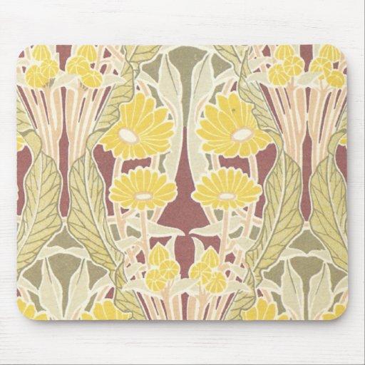 arte del estampado de flores de la maravilla del n tapete de ratón