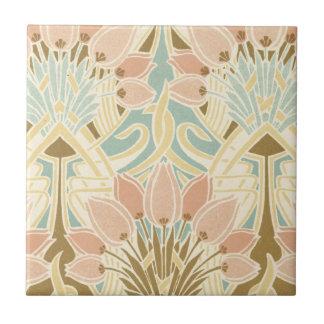 arte del estampado de flores de la naturaleza del  azulejo cuadrado pequeño