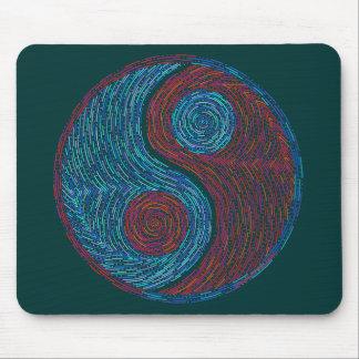 Arte del este Mousepad de la filosofía de Yin y de