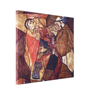 Arte del expresionismo del vintage, agonía de Egon Impresión En Lona