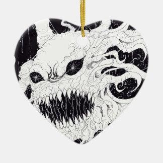 Arte del fantasma del demonio adorno de navidad
