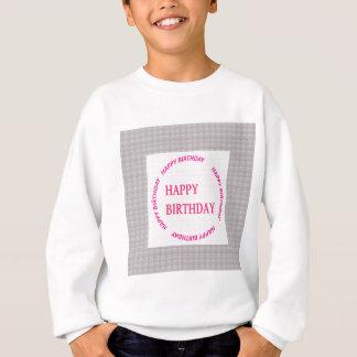 Arte del feliz cumpleaños en la teja de piedra sudadera