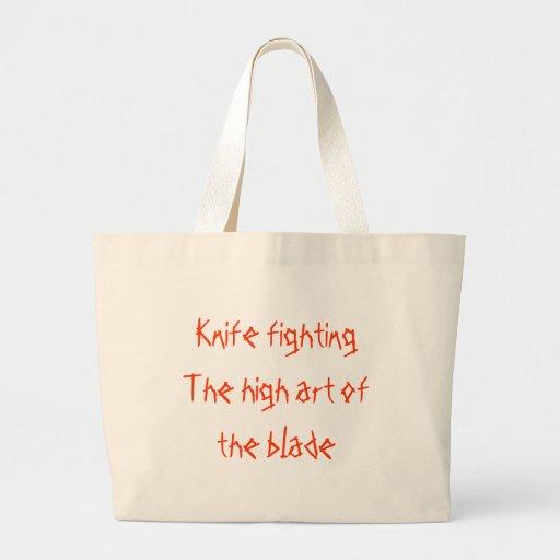 Arte del fightingThe del cuchillo alto de la cuchi Bolsa Tela Grande
