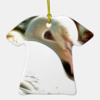 Arte del flamenco adorno de cerámica en forma de camiseta