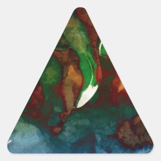 Arte del flamenco pegatina triangular