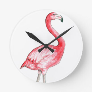 Arte del flamenco reloj redondo mediano