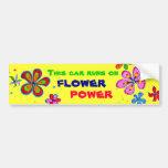 Arte del flower power, pegatina para el parachoque pegatina de parachoque