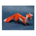 Arte del Fox Origami Tarjetas Postales