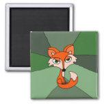 Arte del Fox rojo Imán Para Frigorífico