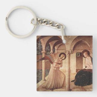 Arte del Fra Angelico Llavero Cuadrado Acrílico A Una Cara