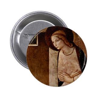 Arte del Fra Angelico Pin Redondo De 2 Pulgadas