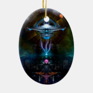 Arte del fractal de Ansarious de la estación espac Ornamentos De Navidad